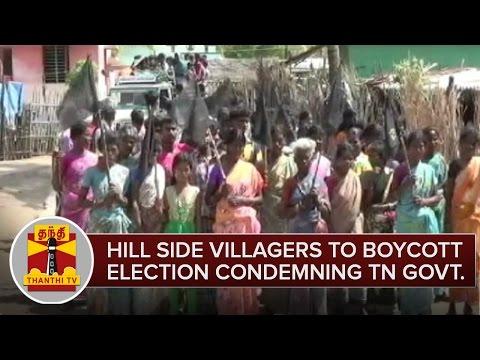 Sathyamangalam-Hillside-Villager-To-Boycott-Election-Condemning-Govt--Thanthi-TV