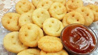 Potato Smileys~ आलू स्माइली~Homemade Crispy Potato Smiley Recipe~ Food Connection