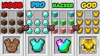 Minecraft NOOB vs. PRO vs. HACKER vs. GOD: SUPER ARMOR in Minecraft MAP! (Animation)