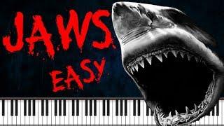 Synthesia [Piano Tutorial] Jaws theme - Easy version