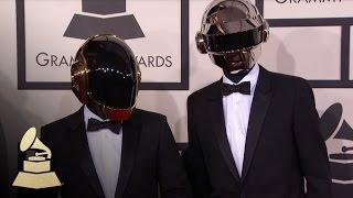 Daft Punk on the 56th GRAMMY Red Carpet Fashion Cam