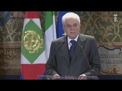 il presidente mattarella elogia david rockefeller