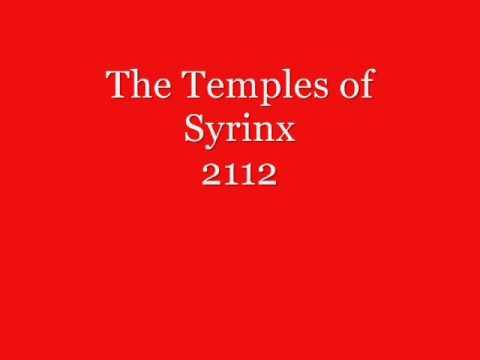 rush 2112 The Temples of Syrinx with lyrics