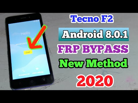 Tecno F2 frp bypass || Remove google account verification lock || 100% Working 2020