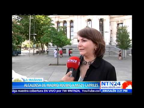 Mitzy Capriles se reúne con alcaldesa de Madrid para discutir detención de Antonino Ledezma