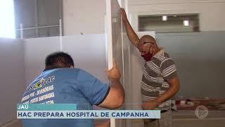 Começa montagem do Hospital de Campanha em Jaú