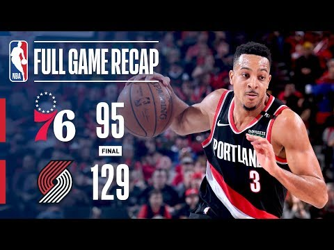 Video: Full Game Recap: 76ers vs Trail Blazers | McCollum's Hot Shooting Leads POR