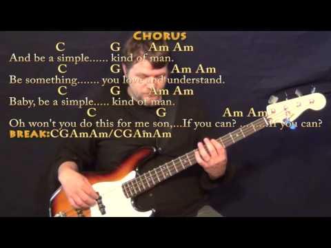 Simple Man Lynyrd Skynyrd Strum Guitar Cover Lesson With Chords ...