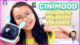 Hi guys, I received this cool CINIMOOD mini projector recently. It's a very cool gadget that you can turn it to a portable cinema.