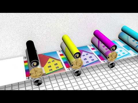Mô phỏng kỹ thuật in offset bốn màu