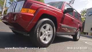 Autoline Preowned 2008 Jeep Commander Sport For Sale Used Walk Around Review Test Drive Jacksonville