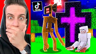 TRYING VIRAL SCARY TIK-TOK MINECRAFT HACKS THAT WORKED!