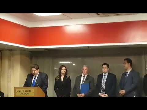 "Video - Παρουσία του Αρχηγού της ΕΛ.ΑΣ., Μιχάλη Καραμαλάκη που τιμήθηκε, η κοπή της πίτας της αστυνομικής ""οικογένειας"" Δυτ. Ελλάδος"