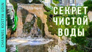 Главный секрет чистой воды в пруду с водопадом! (The main secret of clean water)