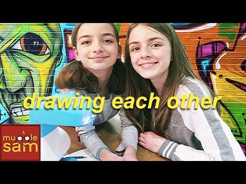 DRAWING EACH OTHER | Sophia And Bella