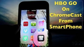 In this video I show you how easy it is to ChromeCast the HBO GO App from your smartphone to your TV. I'm using my iPhone 5 ...