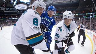 Hertl scores twice as Sharks beat Canucks