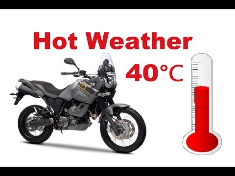 Top 5 Mistakes you might make when you ride a motorcycle in hot weather