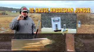 """In another installment of the Exotic Shotgun ammo series... we take a look at Rhodesian Jungle Ammo. ** You can now support I'm with Chaos by visiting http://Patreon.com/ImwithChaos **-------------------------------------------------------------------------------------Check out ImwithChaos.com for more reviews and videos!I'm with Chaos is all about bringing you the most unbiased gun and gear reviews possible. I am a gun geek to the core and I love everything from machine guns to hunting shotguns to ammunition to accessories. Sharing as much knowledge as I can is the primary objective. If you aren't having fun while shooting, you aren't doing it right! Prepare to sit back and enjoy the show. ----------------------------------------------------------------------------------------Please Like, Share and Subscribe to get updates and see videos as soon as they come out! You can also find me on:Facebook.com/Chaos311ClarityInstagram: @Chaos311ClarityTwitter: @Chaos311ClarityMusic: """"Noise Attack"""" Kevin MacLeod (incompetech.com)Licensed under Creative Commons: By Attribution 3.0http://creativecommons.org/licenses/by/3.0/"""