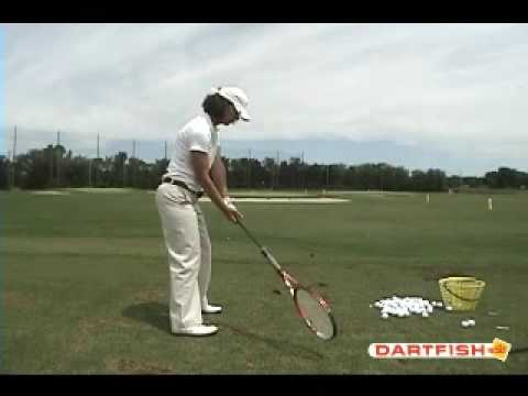 Chicago Golf Lessons Backswing Racket Drill to Improve The Golf Path by Lou Solarte