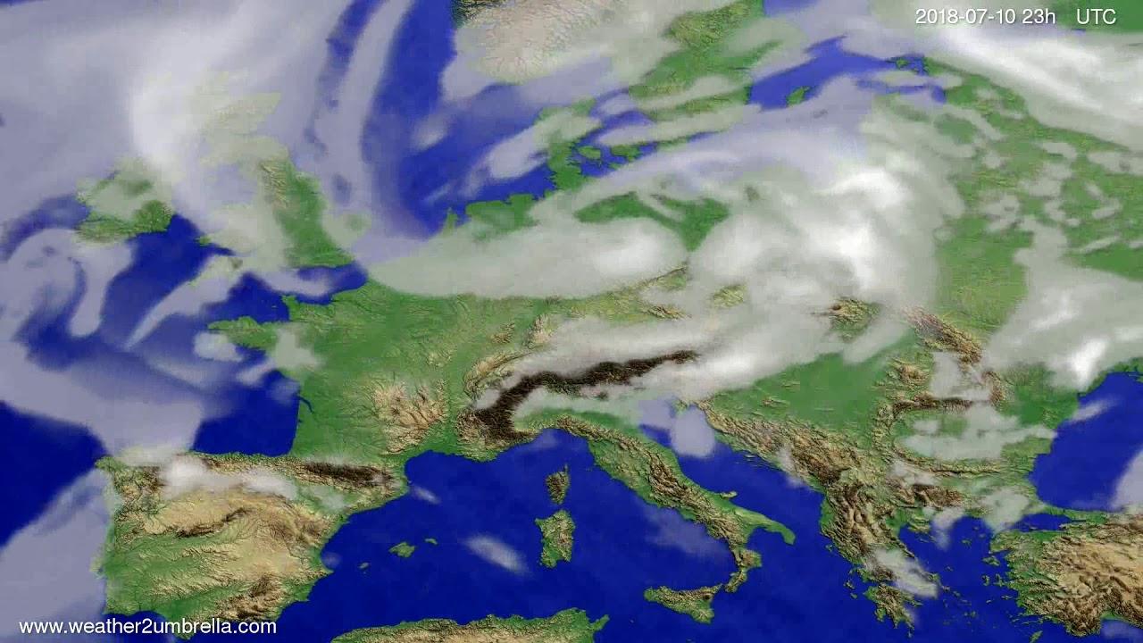 Cloud forecast Europe 2018-07-07