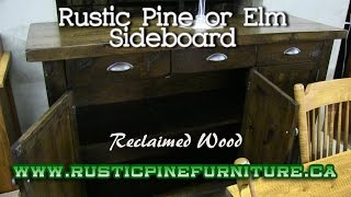 Mennonite Rustic Pine or Elm Sideboard from Reclaimed Wood