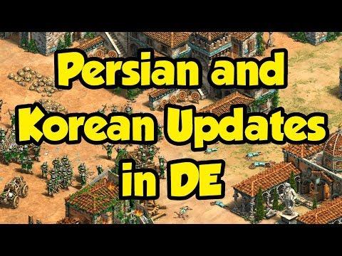 Persian and Korean Updates in DE