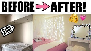 DIY DORM ROOM MAKEOVER!