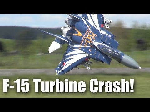 Jet - When this very large turbine powered F15 RC plane crashed just a few meters away from me, I did not flinch :-) The result is the footage you see here. Yes, the MFNZ jet fliers are back,...