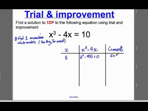 Trial and Improvement 1 (GCSE Höhere Mathematik): Tutorial 1