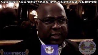 Kasaï d'abord a rencontré Félix Tshisekedi de l'Udps et à l'occasion, l'asbl par son président Dieudonné Dikita l'a interviewé en tshiluba.
