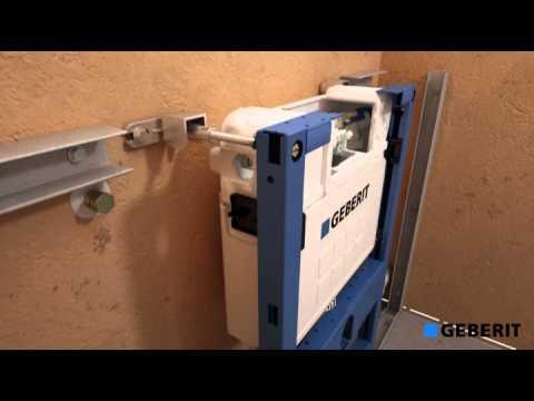 Montagefilm Duofix Wand WC Element UP200 Betätigung von oben