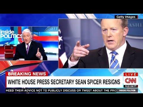 SEAN SPICER Upset With TRUMP & RESIGNS - CNN