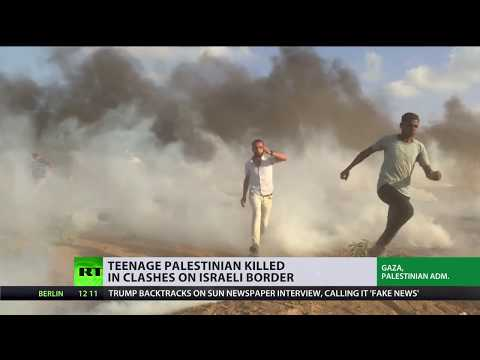 Great March of Return: Teenage Palestinian killed in clashes on Israeli border