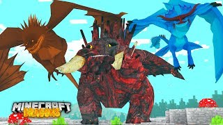 THE RARE ELEMENT DRAGONS... EARTH, WIND AND FIRE | Minecraft  DRAGONS w/ Little Kelly