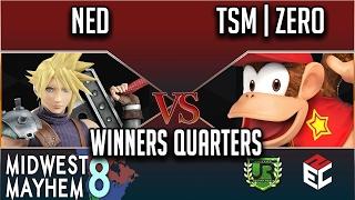 Midwest Mayhem 8 WINNERS QUARTERS – Ned (Cloud) vs TSM | ZeRo (Diddy Kong)