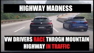 Karak Malaysia  City pictures : VW & Honda Race on Karak Highway Malaysia