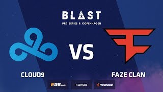 Cloud9 vs FaZe, overpass, BLAST Pro Series Copenhagen 2018