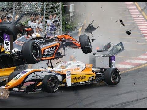 Raju kolari F3-sarjassa – Kuljettaja selvisi selkämurtumalla