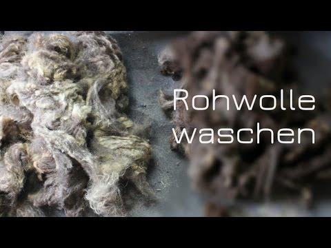 Rohwolle waschen (mit Unicorn Power Scour)