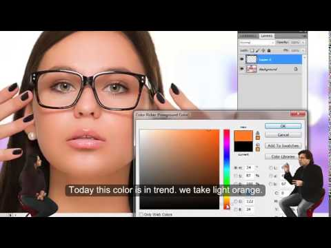 How To Remove Glasses From A Picture PHOTOSHOP TUTORIAL IN HINDI & ENG  R K PHOTO MAGIC TRIX