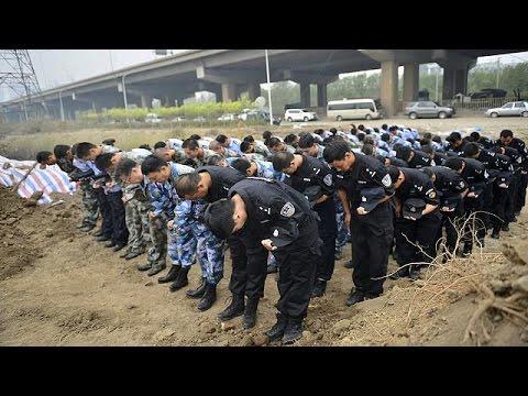 Κίνα: Φόρος τιμής στα θύματα των εκρήξεων