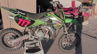6. 2009 kx 65 mod walk around+riding