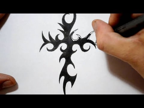 Tribal Cross Tattoos – Drawing a Cool Spikey Design