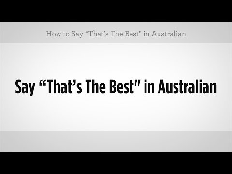 how to - Watch more Australian Slang Translator videos: http://www.howcast.com/videos/515855-How-to-Order-a-Beer-on-Tap-Australian-Slang Learn how to say