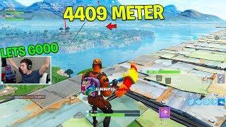 The WORLDS FARTHEST KILL in FORTNITE! (4,409m KILL) | Fortnite Playground Mode Gameplay