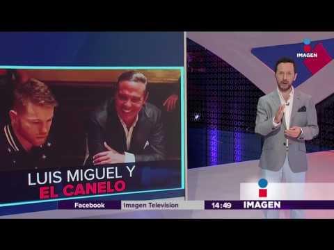 El Canelo festejó con Luis Miguel | Imagen Noticias con Yuriria Sierra