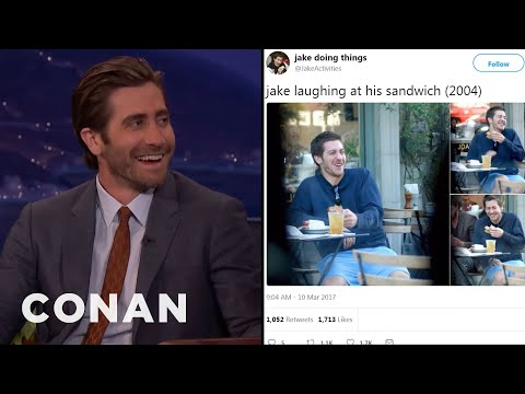 Jake Gyllenhaal Reacts to Jake Doing Things
