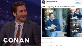 Video Jake Gyllenhaal Reacts To @JakeActivities  - CONAN on TBS MP3, 3GP, MP4, WEBM, AVI, FLV Maret 2018