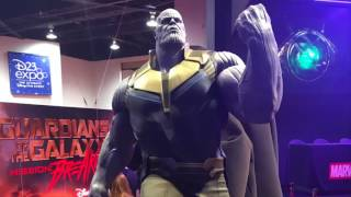 At D23 Expo, going on right now, Marvel unveiled a life-size statue of Thanos as he'll appear in Avengers: Infinity War.